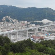 Renzo Piano unveils replacement for collapsed motorway bridge in Genoa