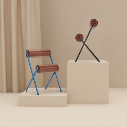 MUT Design creates sculptural Roll chairs for Sancal
