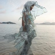 Scarlett Yang creates dress from biomaterials that can decompose in hours