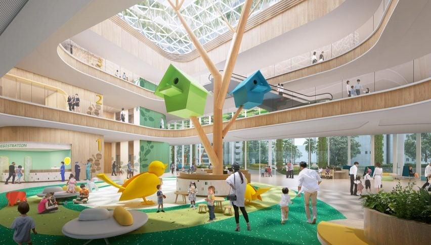 Hospital Infantil de Shenzhen e Edifício de Ciência e Educação da B + H Architects para a China