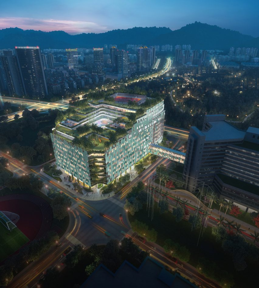 Shenzhen Children's Hospital and Science and Education Building by B+H Architects for China