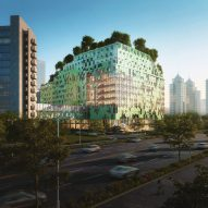 Cascade of sky gardens to crown Shenzhen children's hospital by B+H Architects