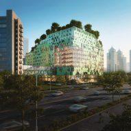 Cascade of sky gardens to crown Shenzhen children's hospital by B+H Architects