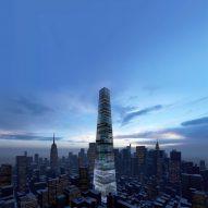 """Piero Lissoni designs conceptual New York skyscraper to be """"self-sufficient garden-city"""""""