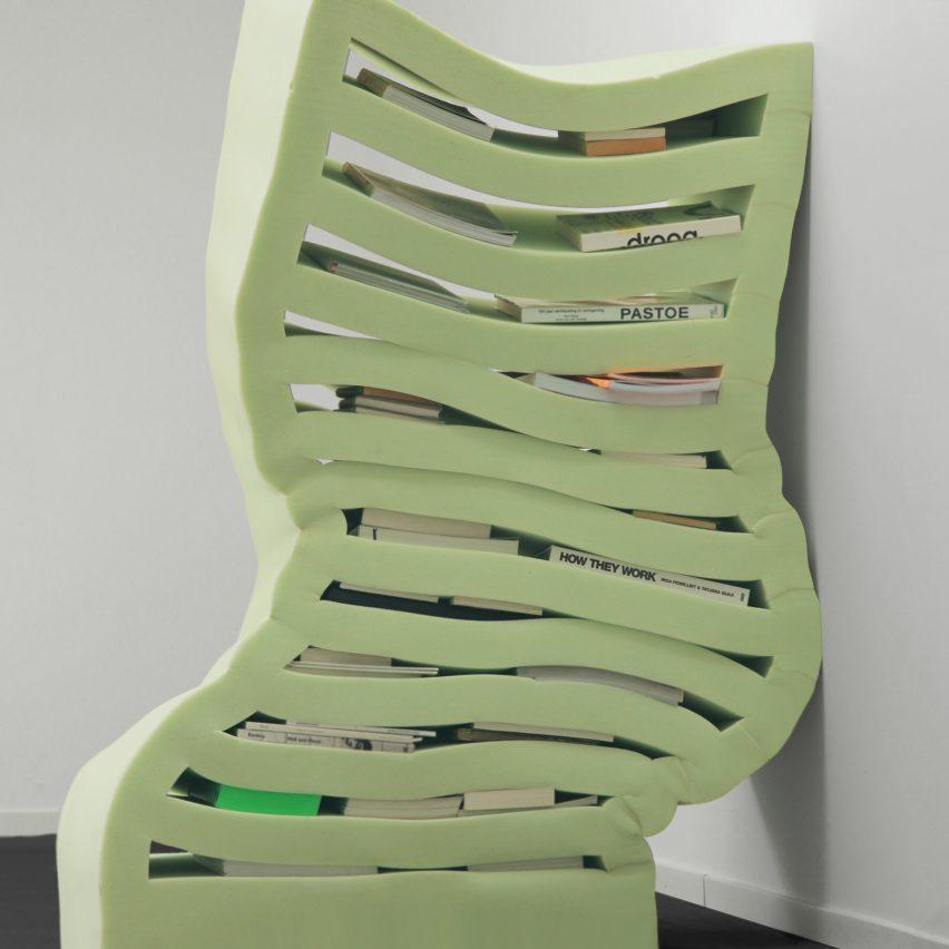 Dewi van de Klomp's foam furniture morphs and sags in response to its contents