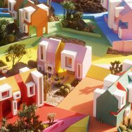 Architectural visualisers imagine rainbow-coloured Sonora Art Village during pandemic