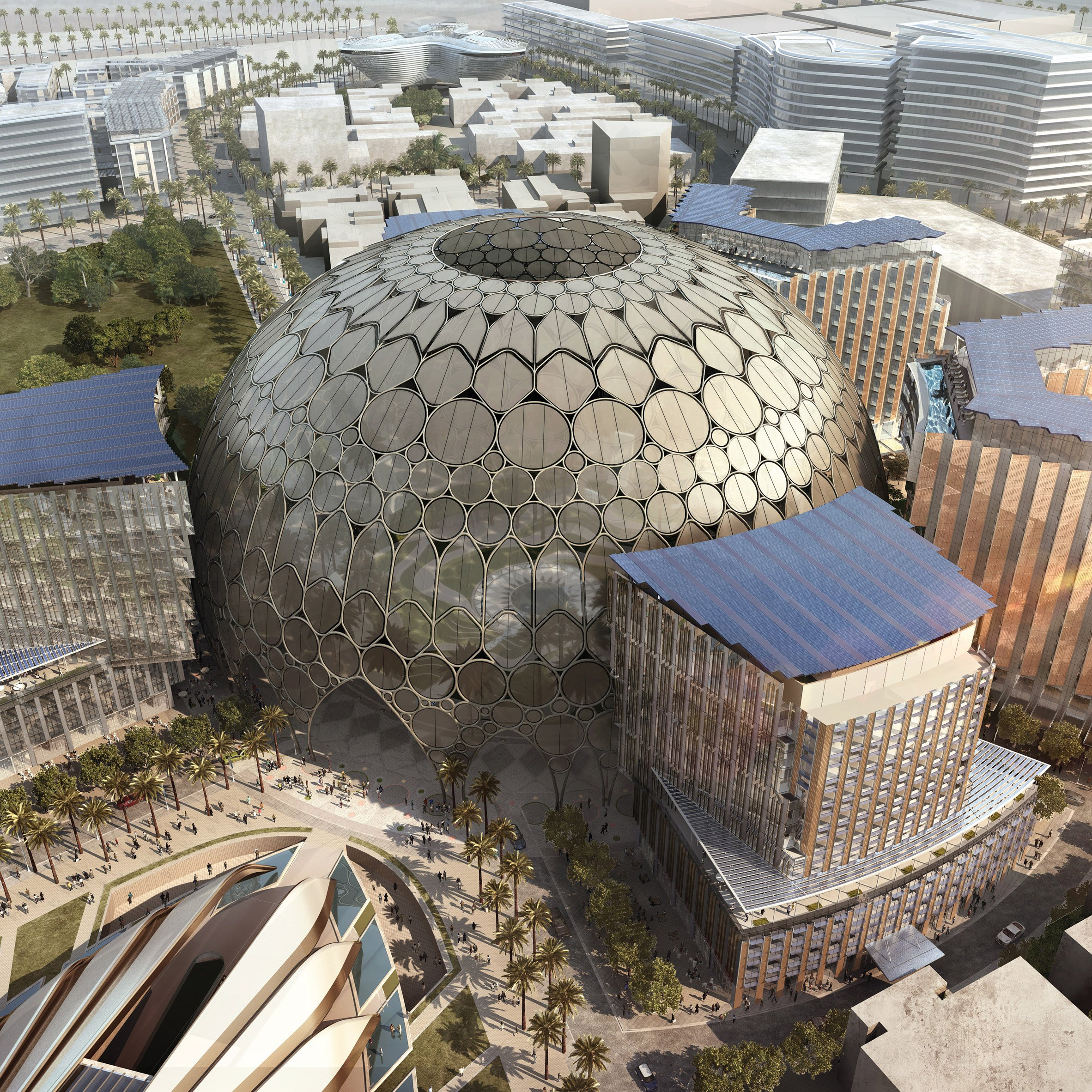 Spherical architecture: Al Wasl Plaza at Dubai Expo 2020, by Adrian Smith+Gordon Gill