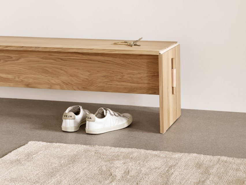Cecilie Manz's flat-pack Plint table for Takt is made up of two parts