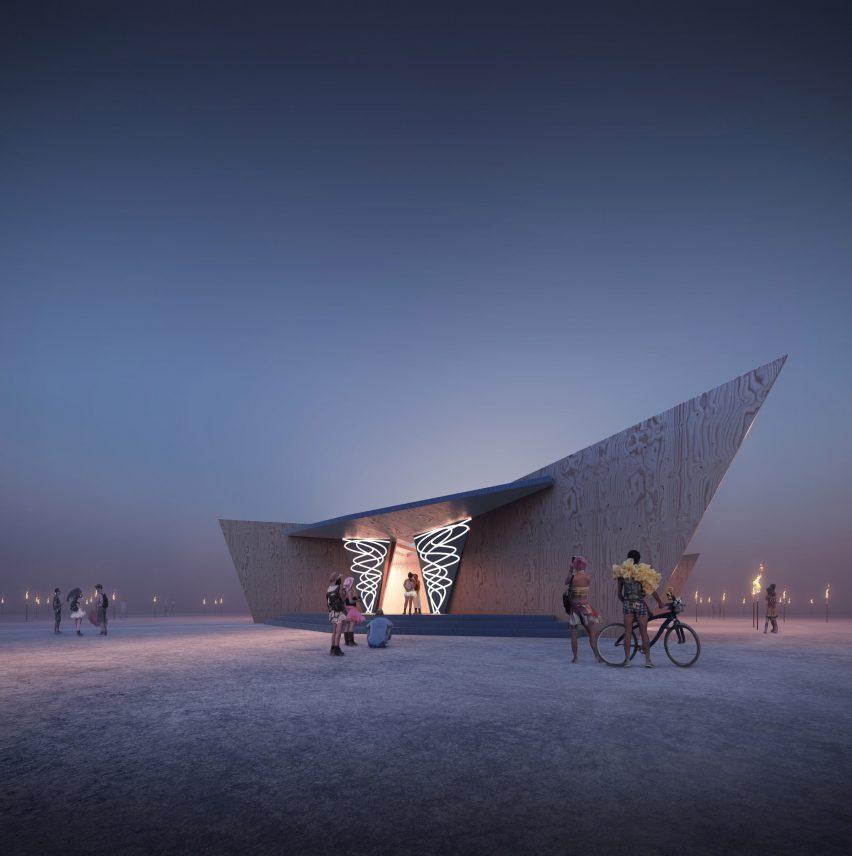 Burning Man Museum of No Spectators by John Marx