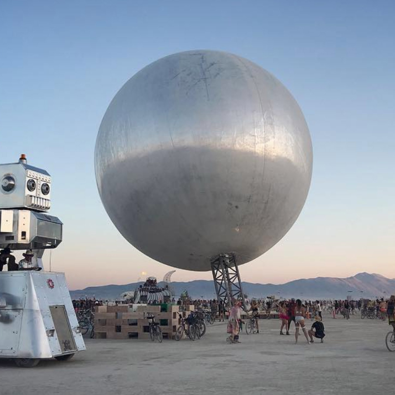 Spherical architecture: Burning Man sphere, by Bjarke Ingels and Jakob Lange