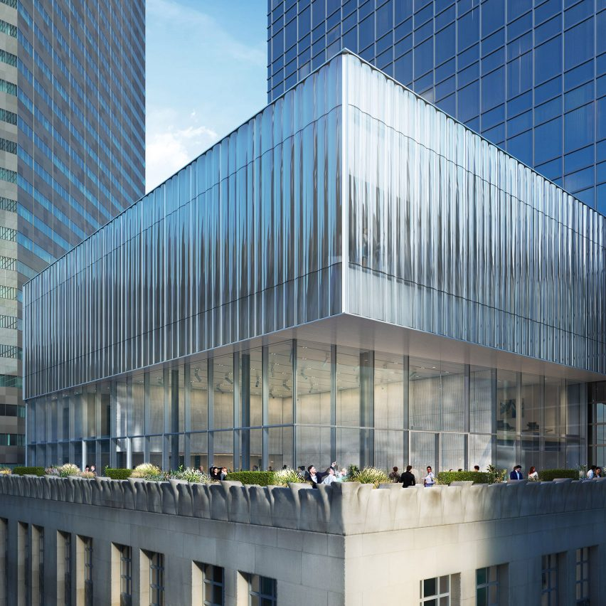 OMA designs glass volume to top Tiffany & Co's New York flagship store