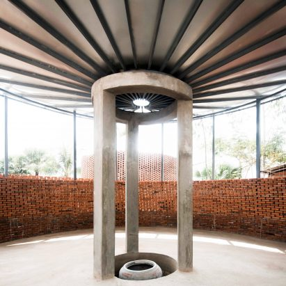 Orient Occident Atelier builds community hall in Cambodia that harvests clean drinking water