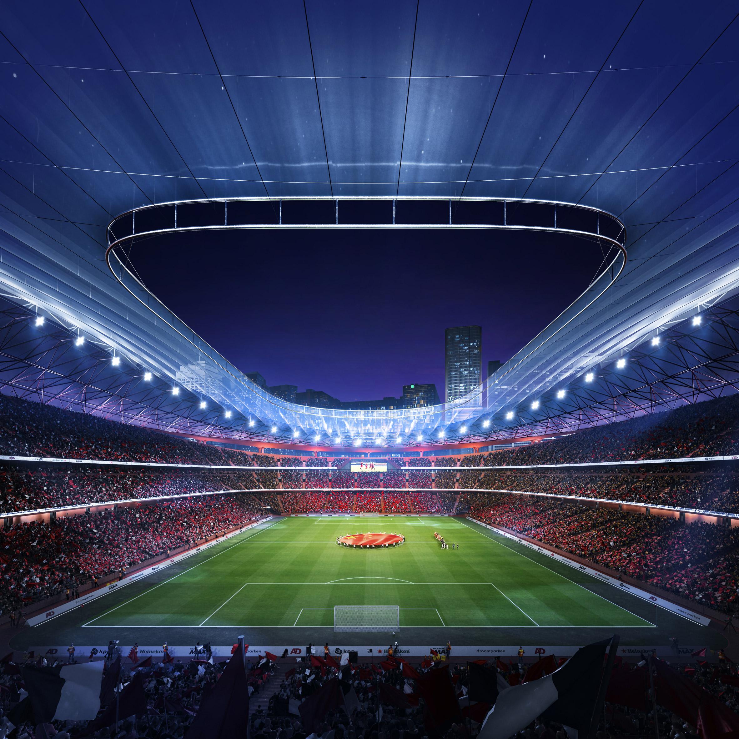 Xi'an International Football Centre stadium proposal by Zaha Hadid Architects in China