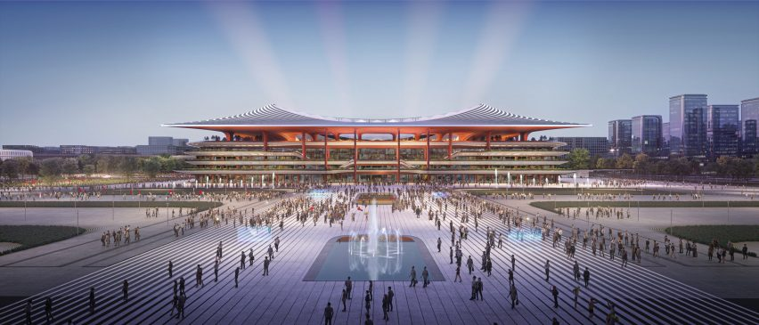 Xi'an International Football Centre stadium proposal by Zaha Hadid Architects in China
