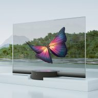 A see-through television features in today's Dezeen Weekly newsletter