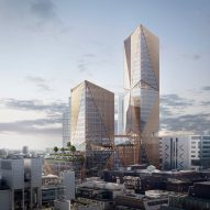 3XN unveils visuals of high-rise office complex for London