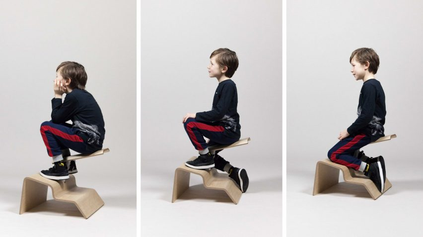 Boris Lancelot's Active Classroom seating encourages children to move