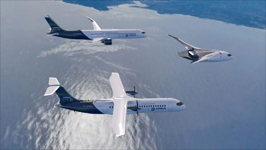 Airbus' new zero-emission concept aircrafts