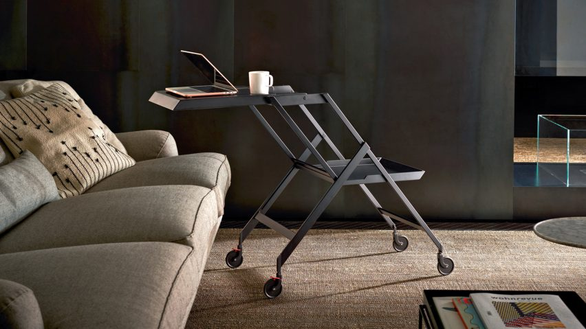"Alessi reissues Richard Sapper's ""masterpiece"" Plico trolley"