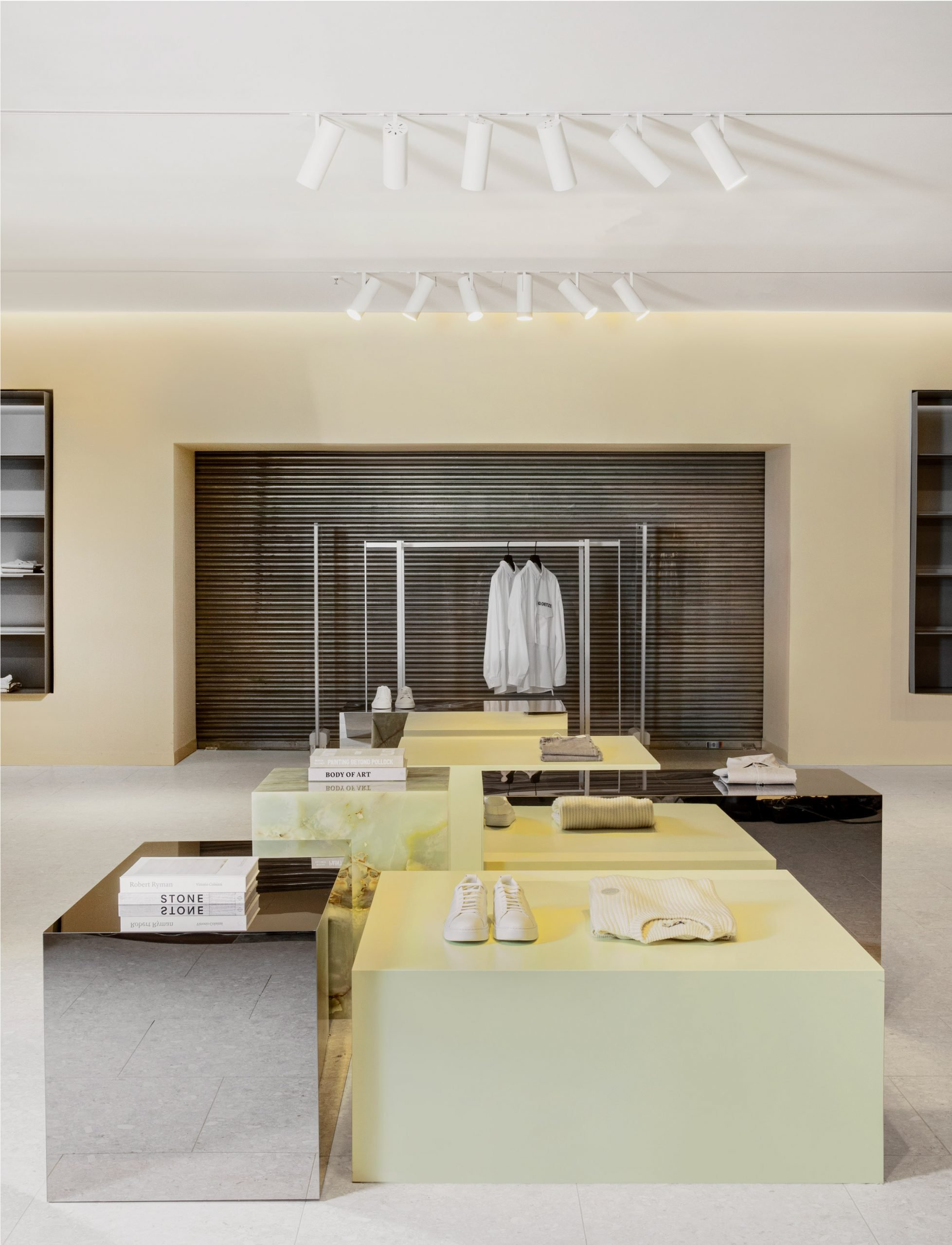 Menswear department in Alsterhaus, Hamburg designed by Norm Architects