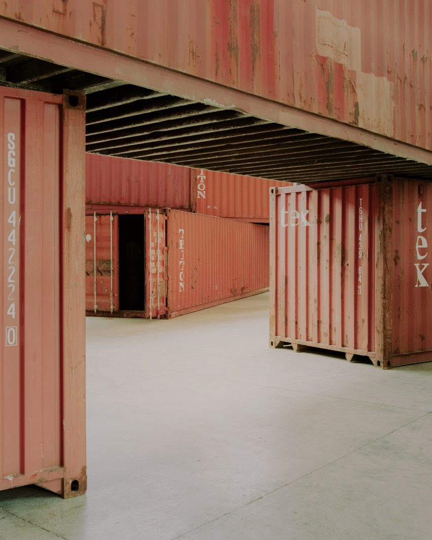 Shipping container installation