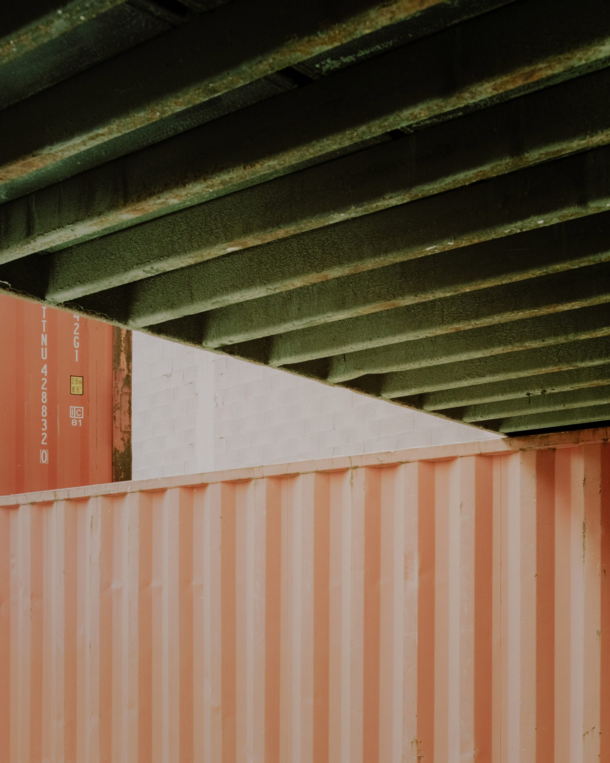 Space within a space shipping container installation