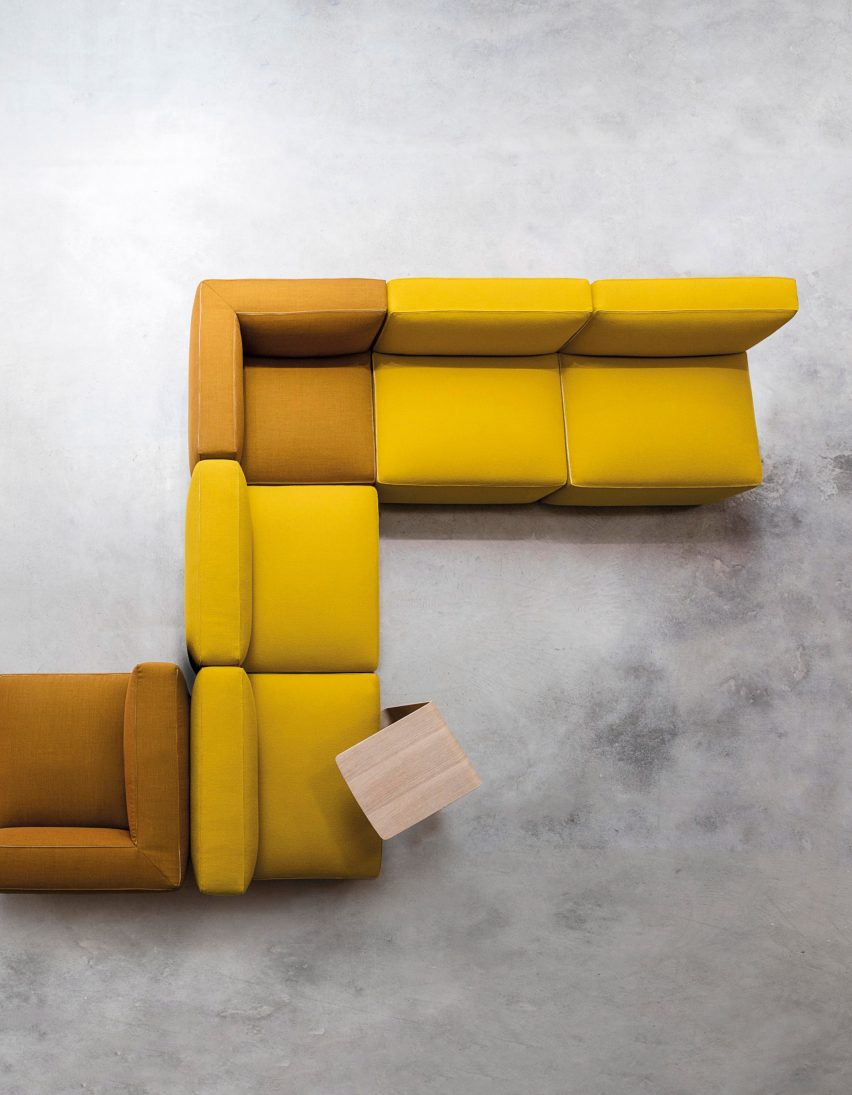 Dado sofas by Alfredo Häberli for Andreu World