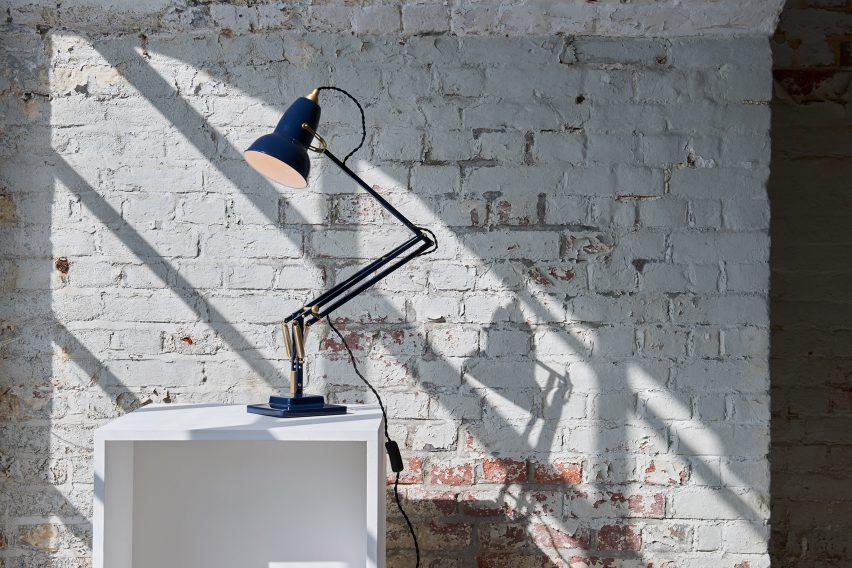 Original 1227 Brass Desk Lamp Ink Blue