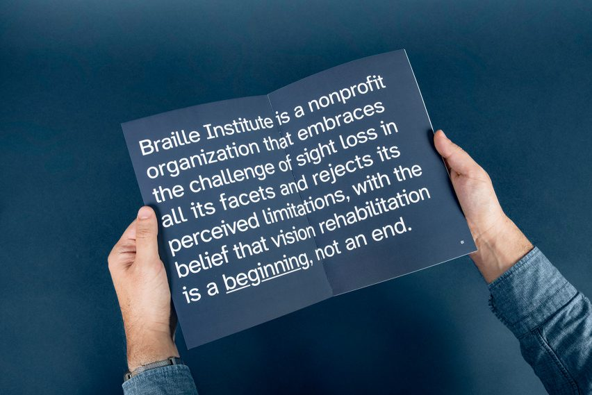 Atkinson Hyperlegible typeface for visually impaired on Braille Institute branding