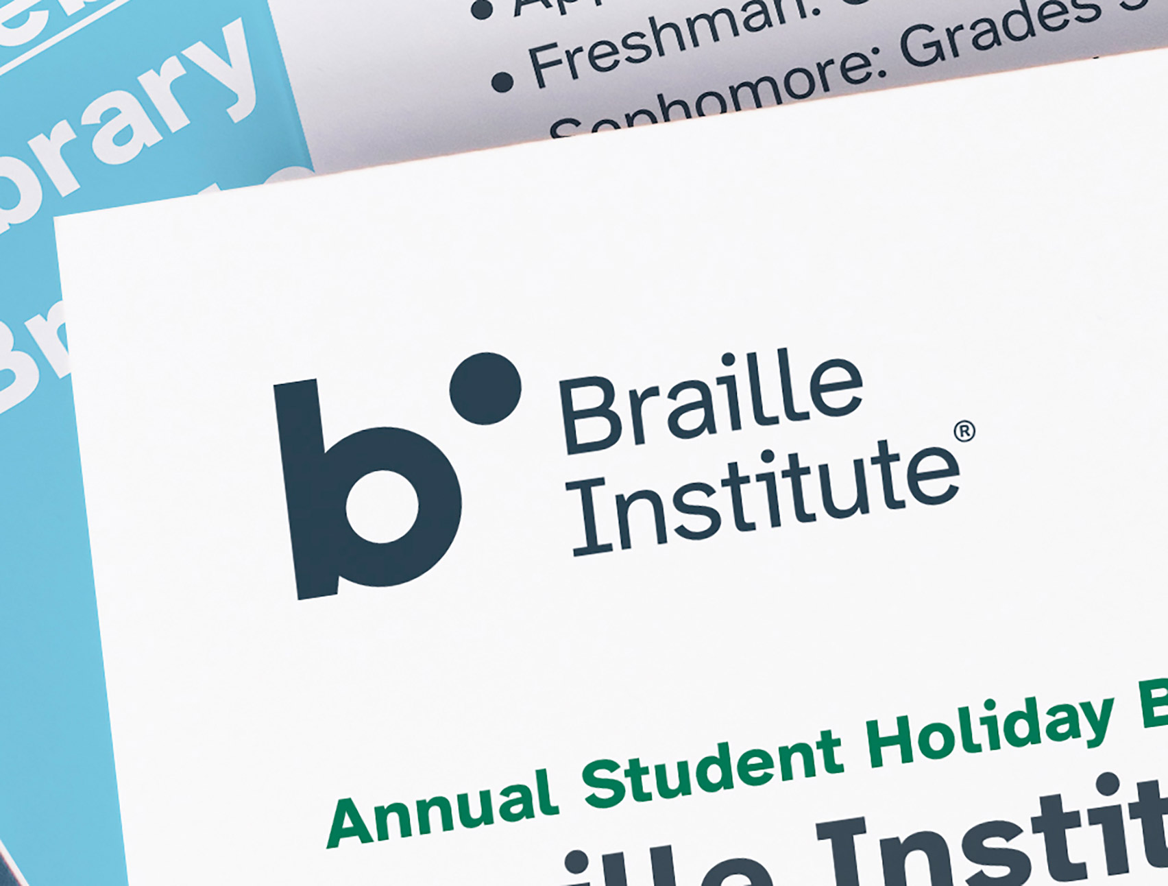 Atkinson Hyperlegible typeface for visually impaired on Braille Institute logo