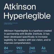 Overview of Atkinson Hyperlegible typeface for visually impaired people