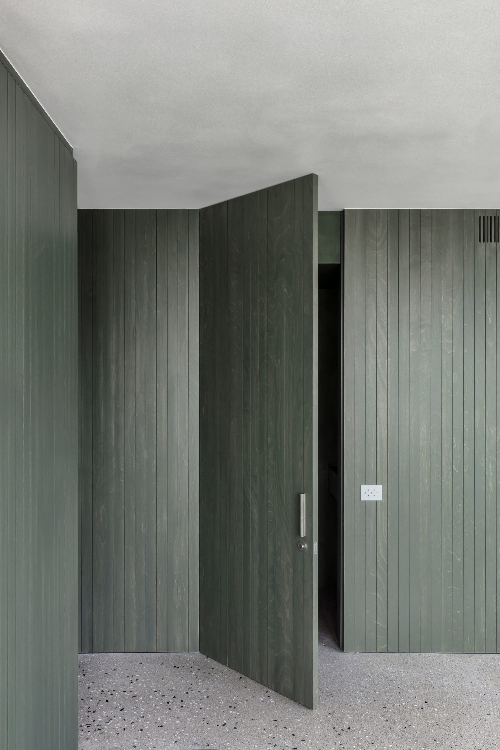 Apartment in Belgium features green joinery