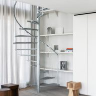 Belgian apartment includes spiral staircase