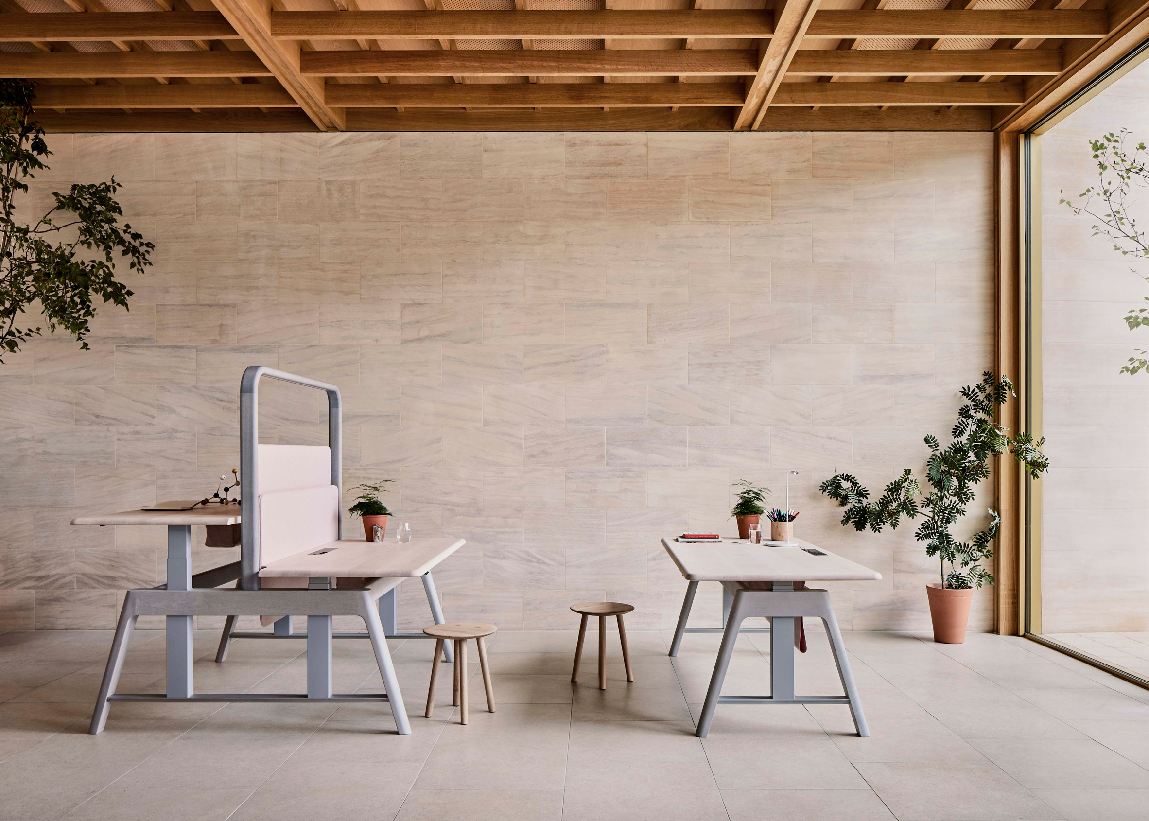 Desks from the Sage collection by Benchmark