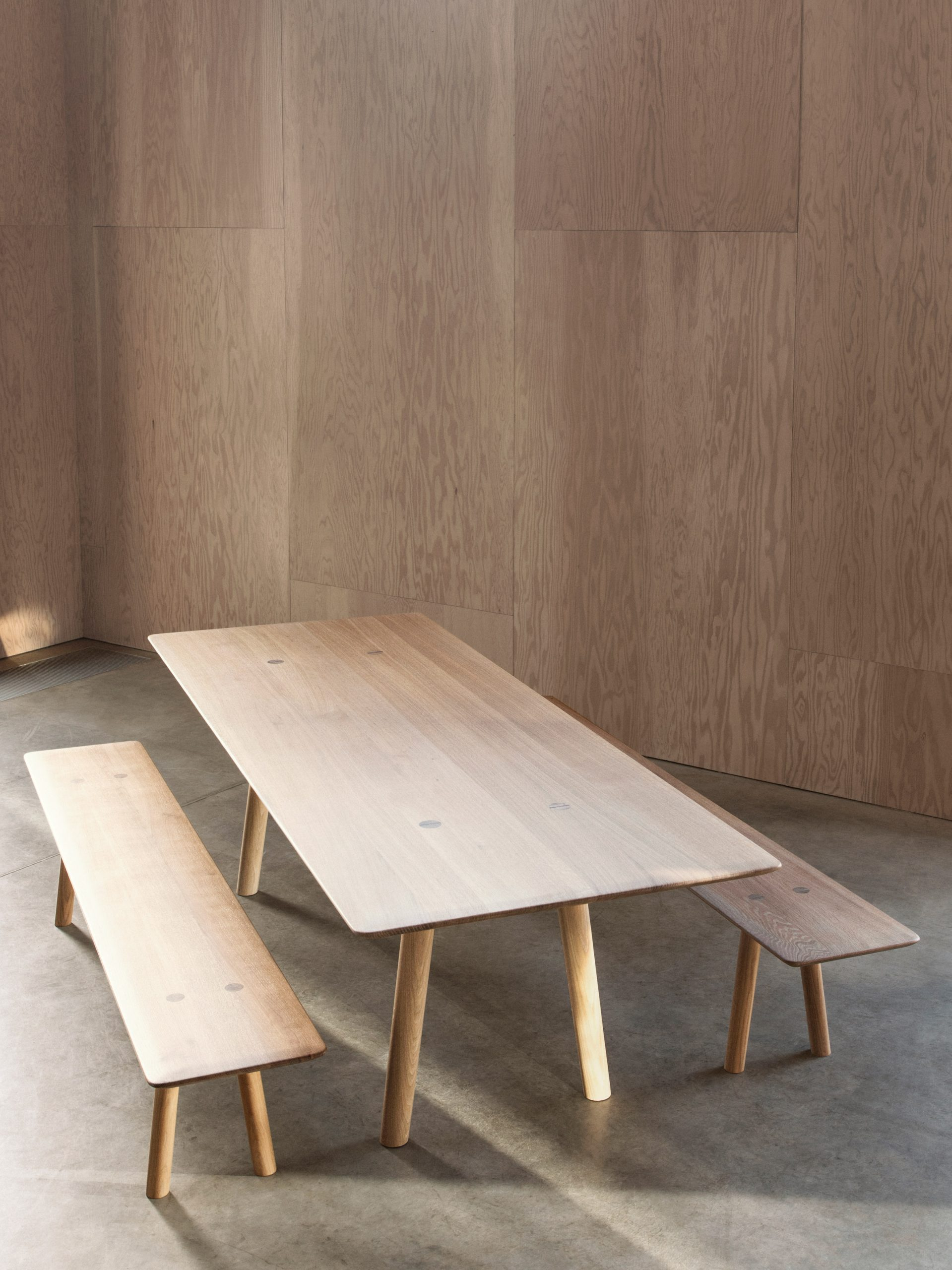 Solid wood OVO furniture by Benchmark and Foster + Partners