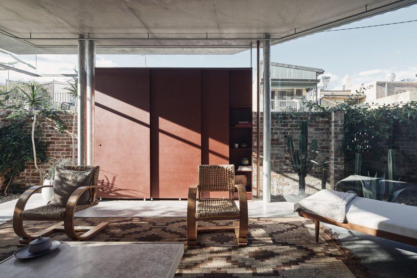 Living room at Bismarck House