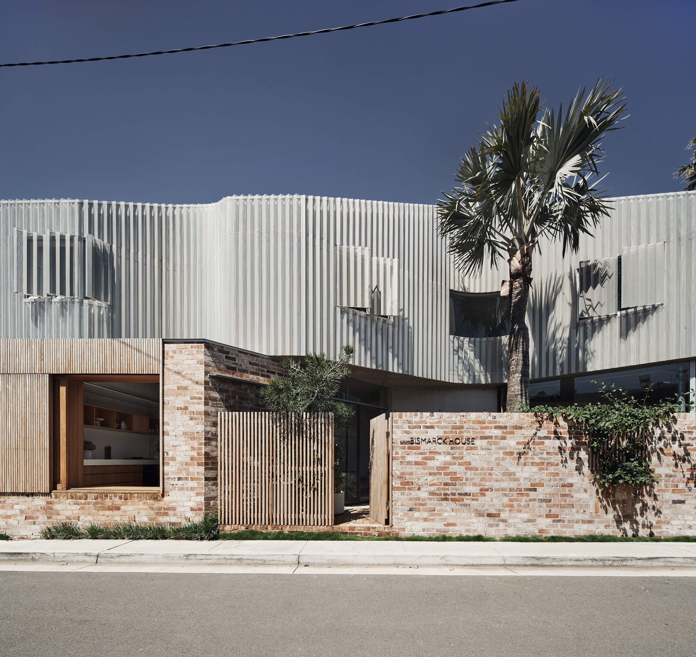 Metal facade of Bismarck House by Andrew Burges Architects in Bondi, Sydney