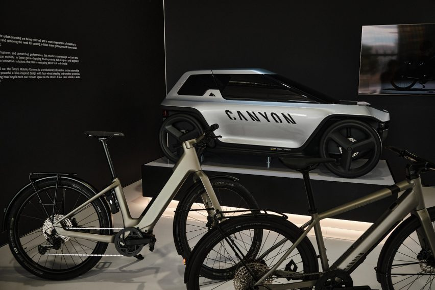 Canyon's Future Mobility Concept is on view in the brand's Koblenz showroom