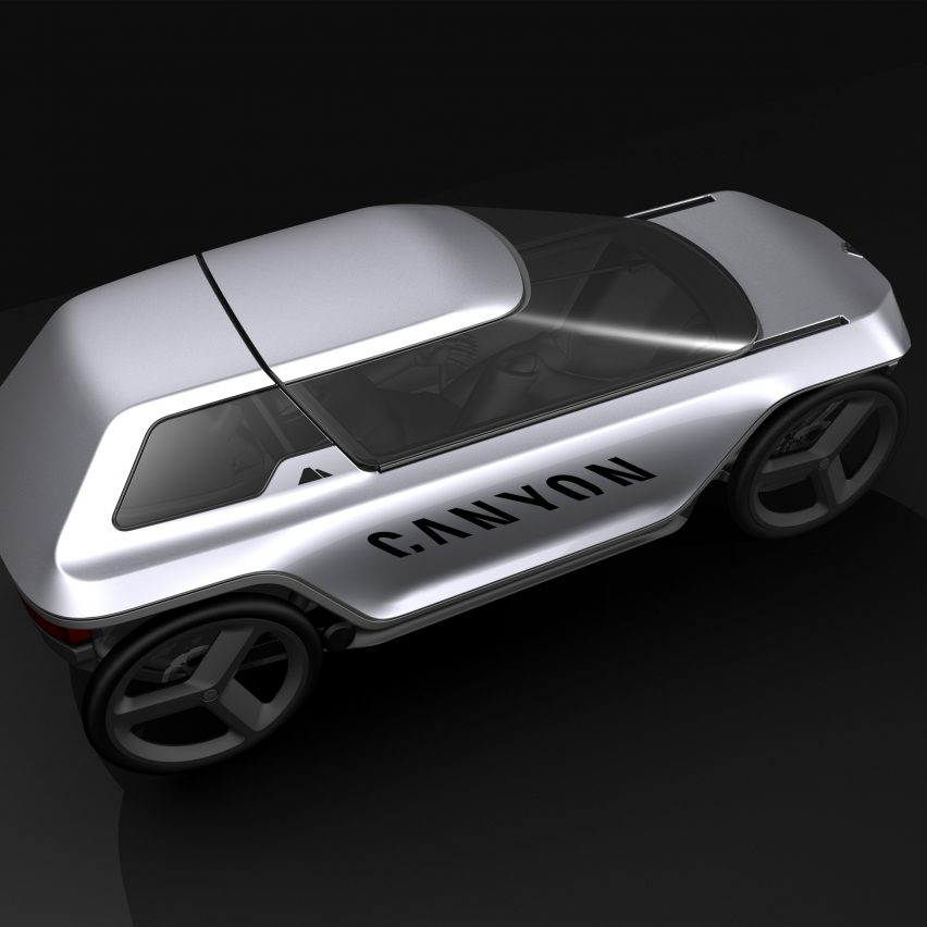 Canyon's Future Mobility Concept is a pedal-powered hybrid between a car and an e-bike
