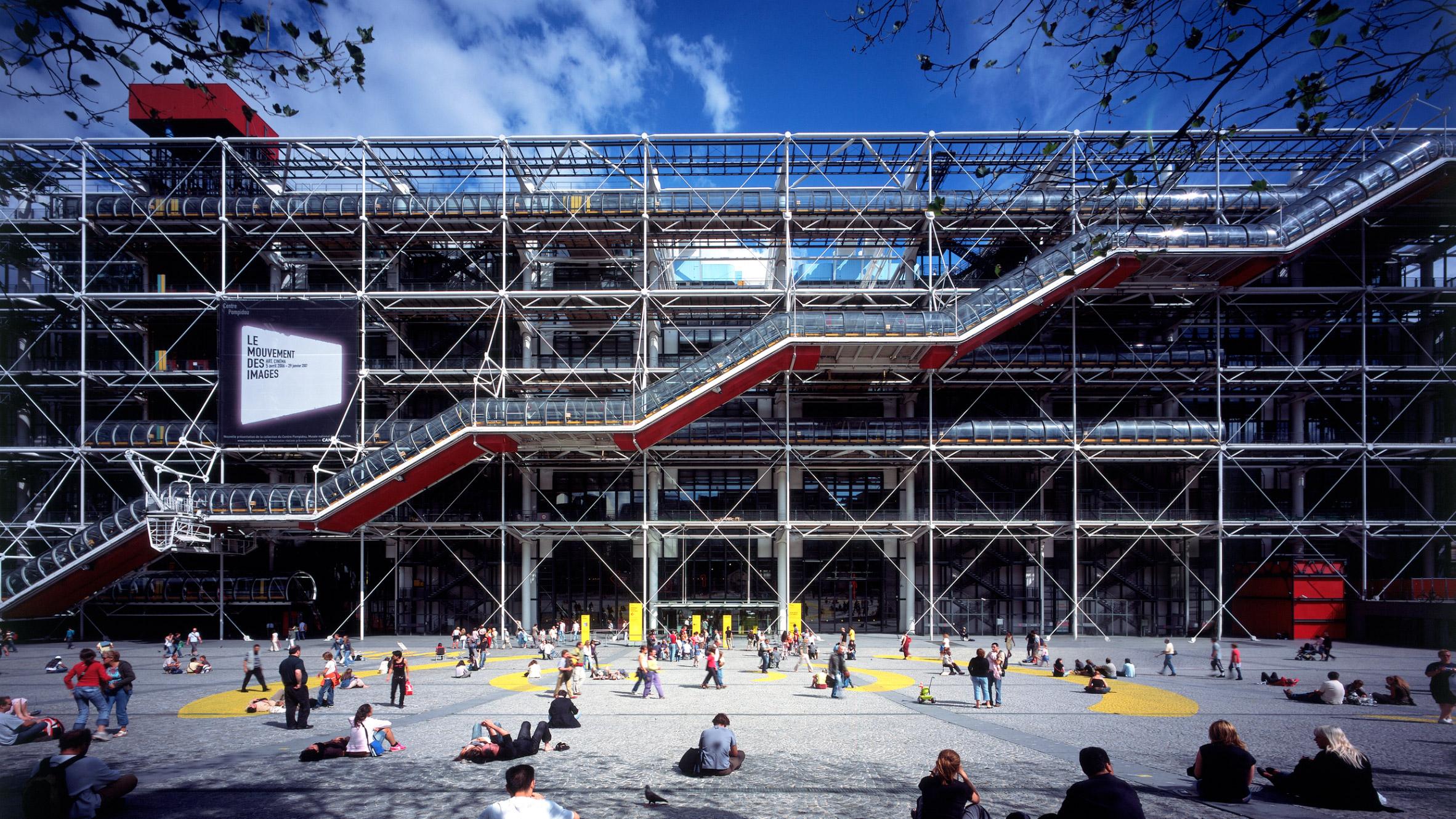Richard Rogers top 10 architecture projects: Centre Pompidou
