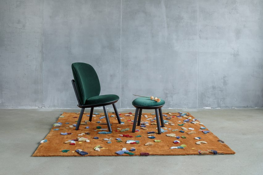 Brown Chaos rug by Audrone Drungilaite