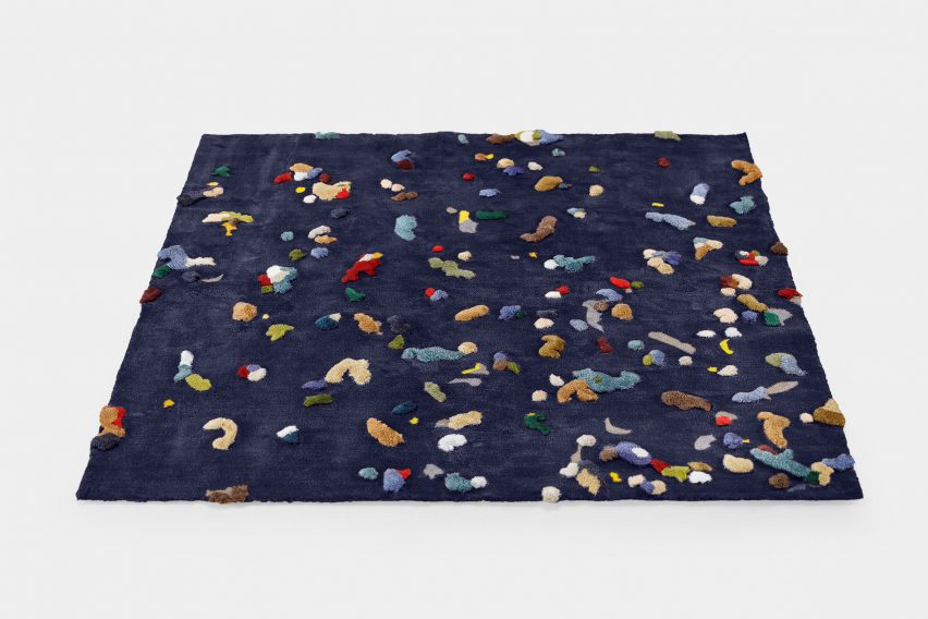 Blue Chaos rug by Audrone Drungilaite for Emko