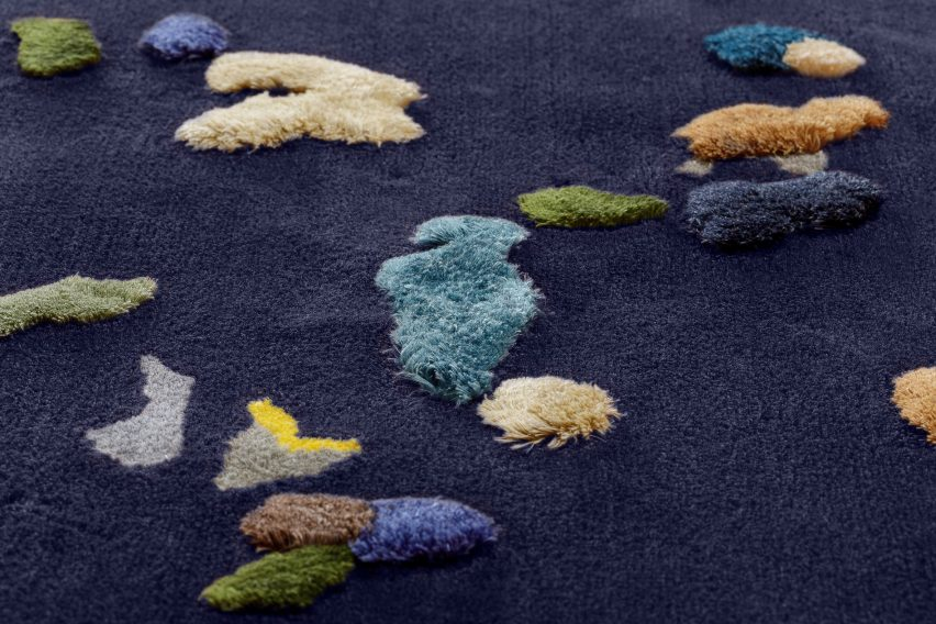 Blue Chaos rug by Audrone Drungilaite