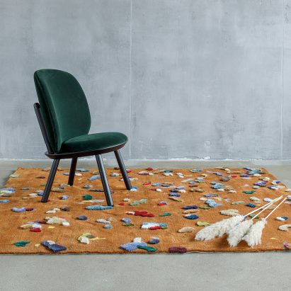 Brown Chaos rug by Audrone Drungilaite for Emko
