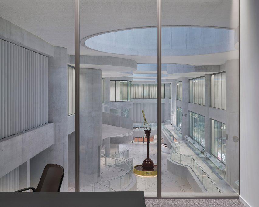 Lindt Home of Chocolate by Christ & Gantenbein giant atrium