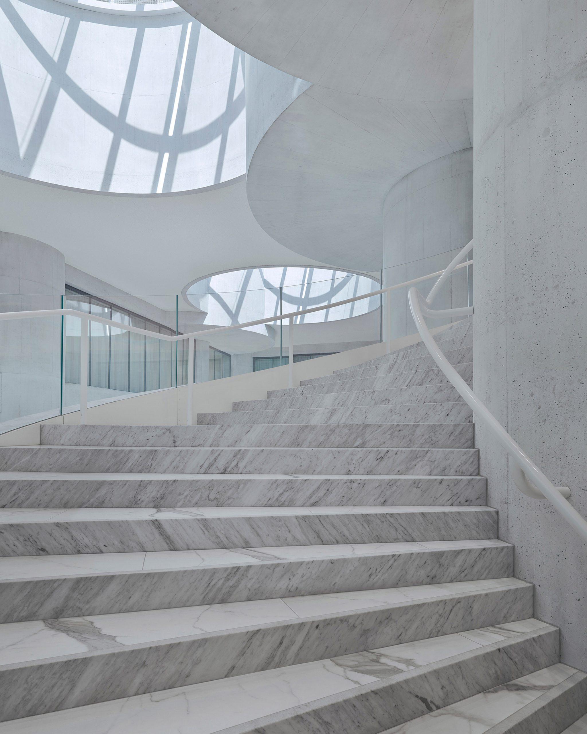 Lindt Home of Chocolate by Christ & Gantenbein spiral staircase
