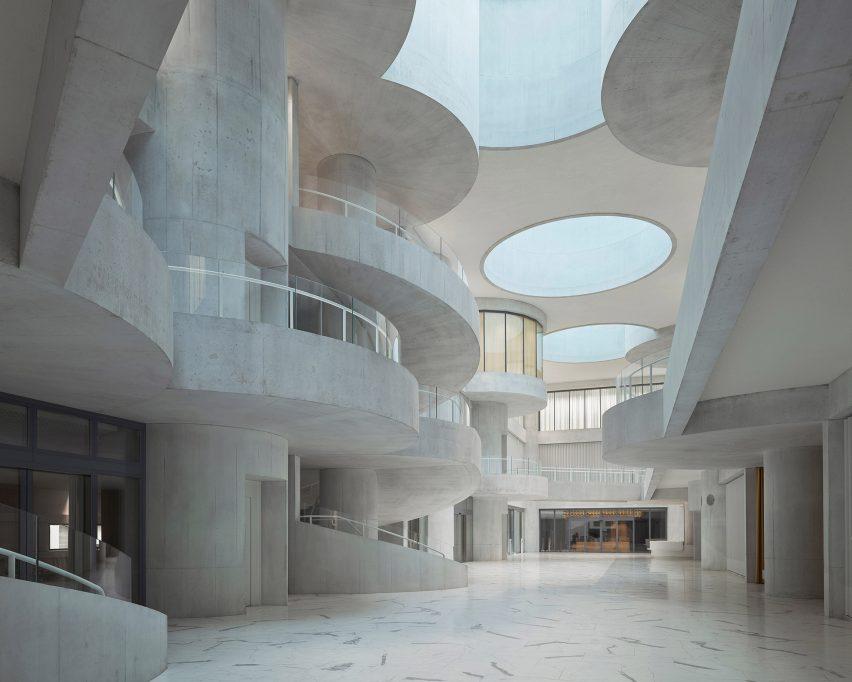Lindt Home of Chocolate by Christ & Gantenbein atrium