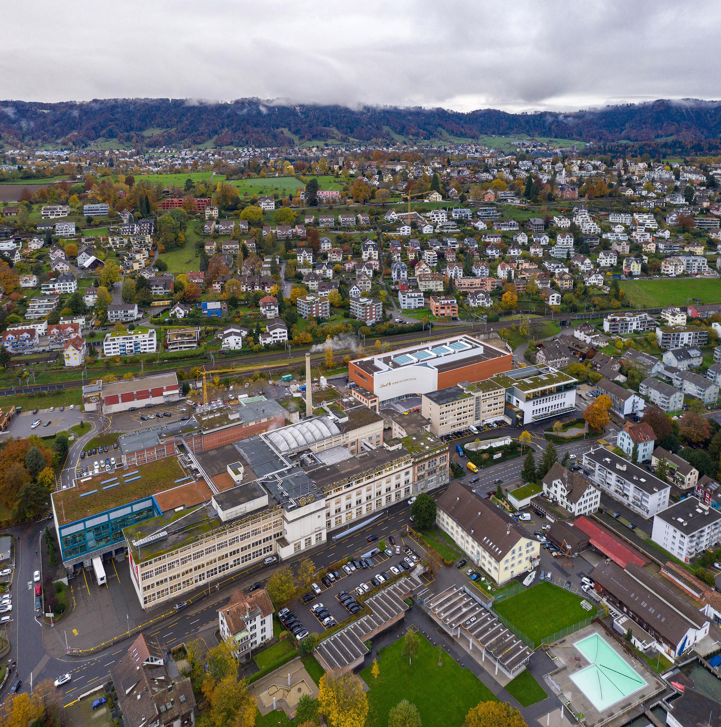 Lindt Home of Chocolate by Christ & Gantenbein in Kilchberg on Lake Zurich