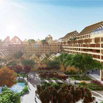 Self-Sufficient City proposal by Guallart Architects for Xiong'an New Area in China