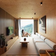 Interior of hotel cabins designed by Wiki World and Advanced Architecture Lab in China